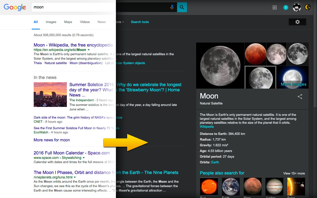 Darkness - Beautiful Dark Mode for Google, Facebook and more